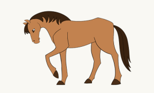 horse drawing easy draw simple drawings cartoon clipart getdrawings guide