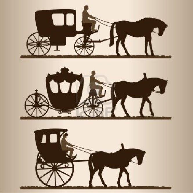 Horse Drawn Miniature Wire Wheel Cart