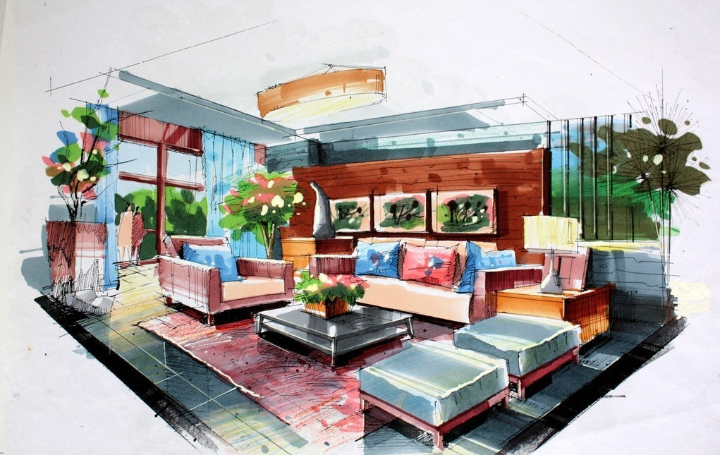 Interior Design Drawing At GetDrawings Com Free For Personal Use