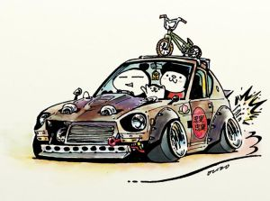 jdm drawings crazy cars cartoon japanese illustration drawing rock mame ozizo cool illustrations s30z sketch funny getdrawings drifting paintingvalley paintings
