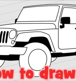 1280x720 how to draw jeep wrangler sahara jk 4 door [ 1280 x 720 Pixel ]