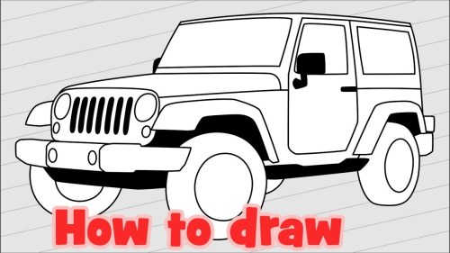 small resolution of 1280x720 how to draw jeep wrangler sahara jk 4 door