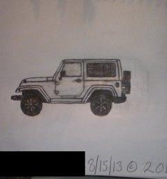 1024x768 sketch 2011 jeep wrangler sahara 2 door by masterpeace23 [ 1024 x 768 Pixel ]