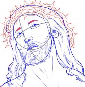 jesus draw drawing step easy drawings face sketch sketches dragoart dibujar getdrawings mary steps guadalupe virgen 출처