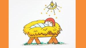 jesus easy drawing draw drawings christmas dra getdrawings coloring paintingvalley