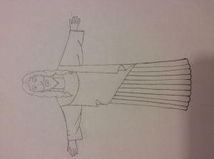 jesus draw easy drawing steps getdrawings wikihow