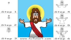 jesus cartoon drawing draw step drawings getdrawings paintingvalley