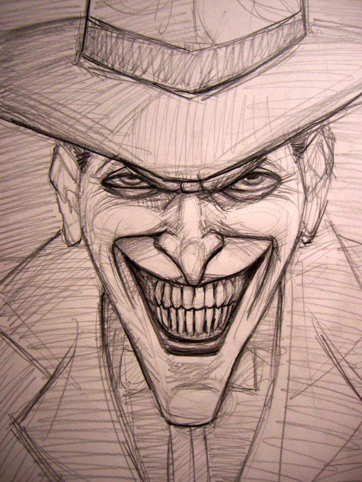 joker face tattoo drawings