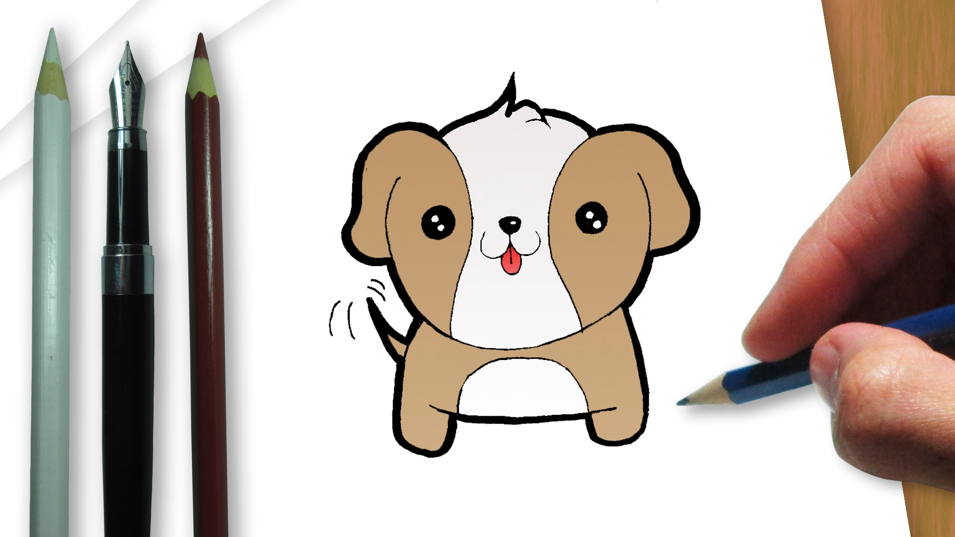Easy Sausage Dog Drawing How To Draw A Cute Dog Pencil Art Drawing