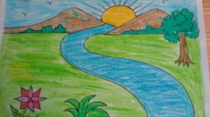 nature drawing simple painting landscape easy paintings draw mother sketches drawings sketch 3d children using getdrawings paintingvalley shapes