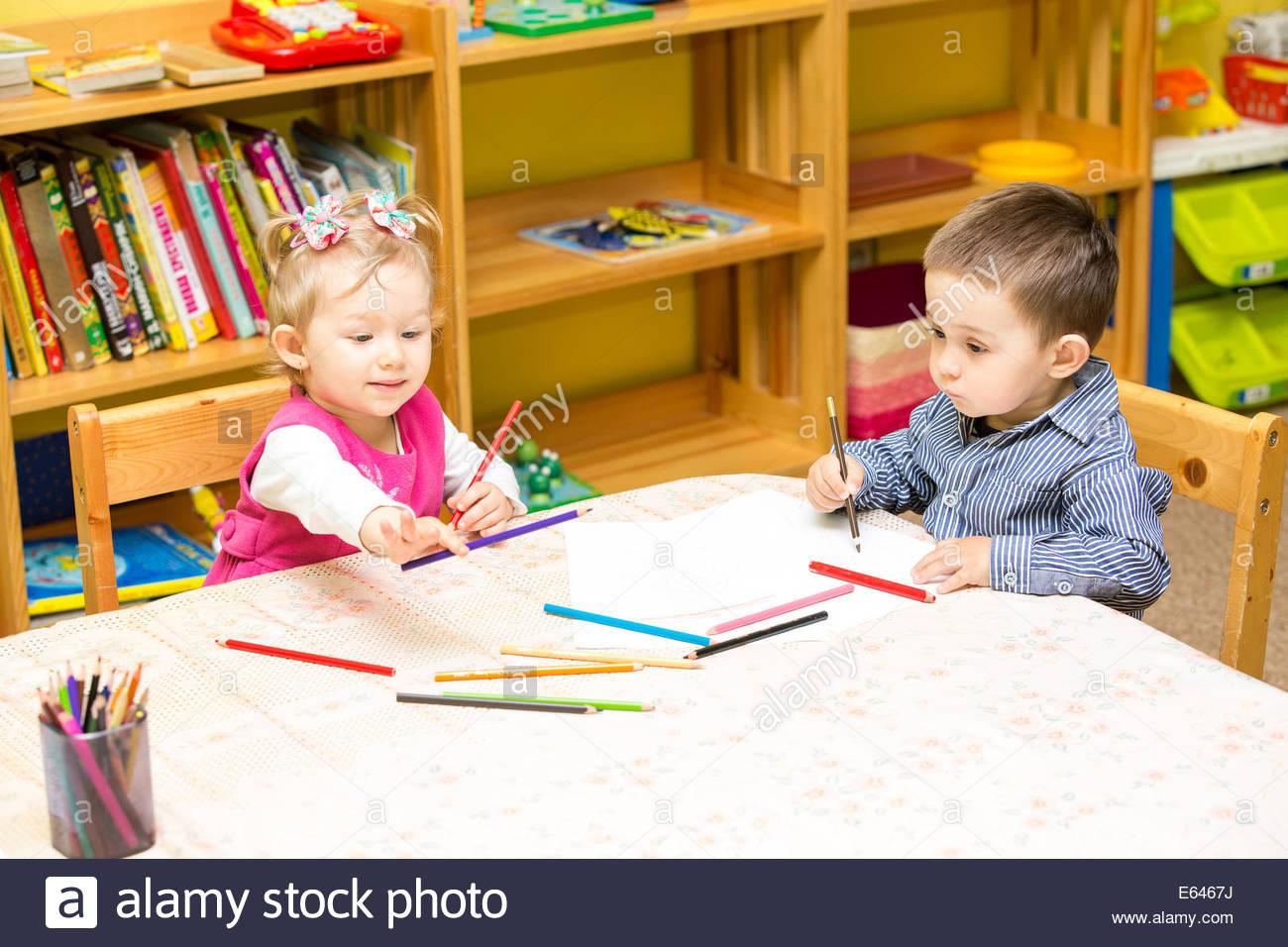 Kindergarten Kids Drawing At Getdrawings