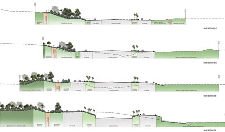 landscape section drawing