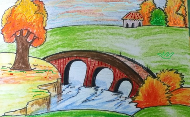 Landscape Simple Drawing At Getdrawings Free Download