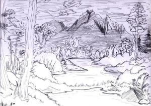 draw drawing landscape landscapes learning sketch tips easy beginners simple jg riddle bloglet deviantart flowers getdrawings animals farm