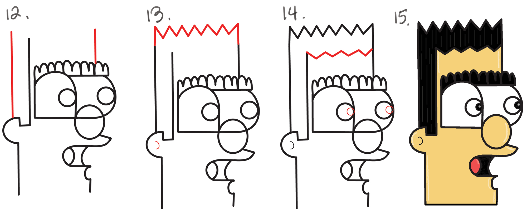 hight resolution of 2000x793 how to draw a cartoon man from lowercase letter n in easy steps