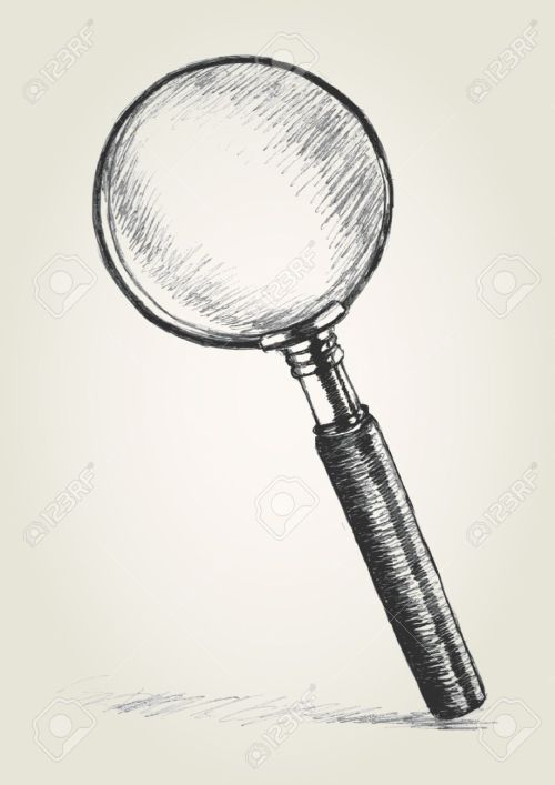 small resolution of 919x1300 sketch illustration of a magnifying glass royalty free cliparts