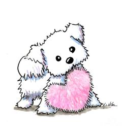 900x900 maltese heart n soul puppy drawing by kim niles [ 900 x 900 Pixel ]