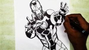 marvel drawing superheroes speed superhero iron comic getdrawings