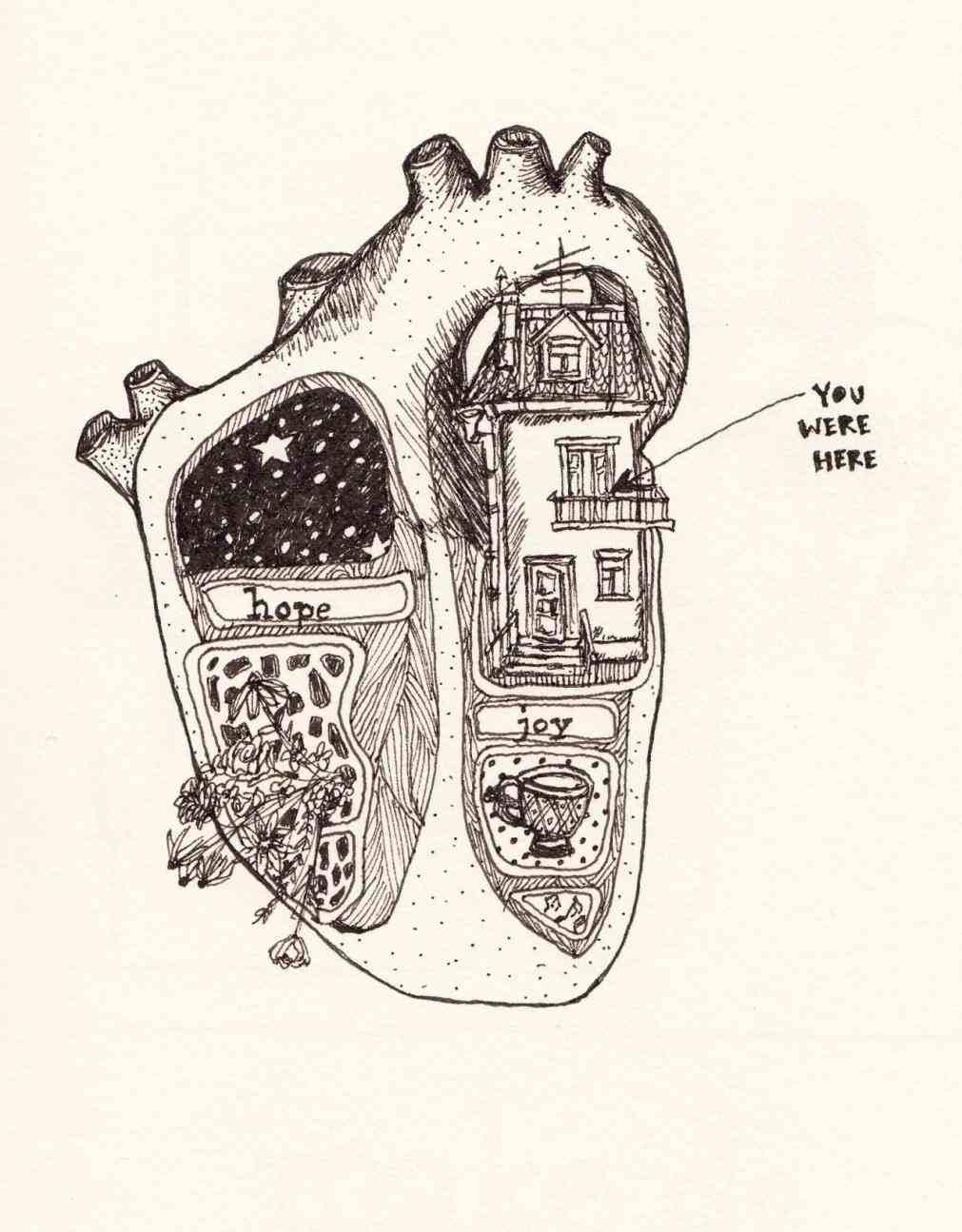 Tumblr Deep Drawings Heart
