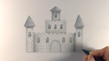 castle draw castles drawing concept medieval getdrawings