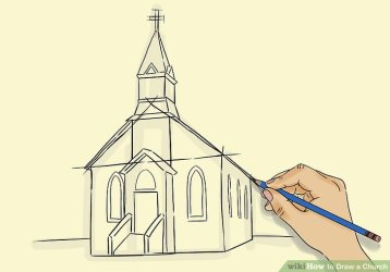 church draw drawing churches medieval sketch building step steps wikihow country getdrawings shapes