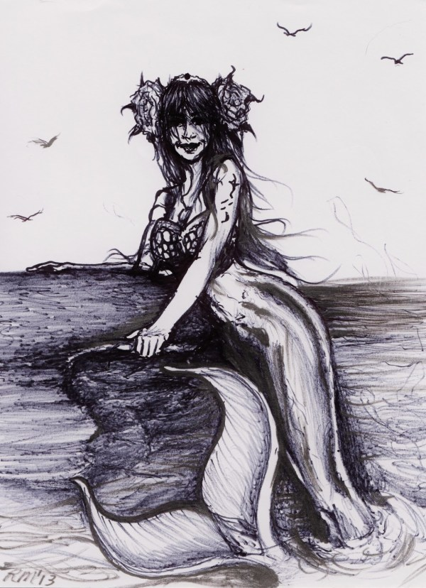 Mermaid Drawing Free Personal Of Choice