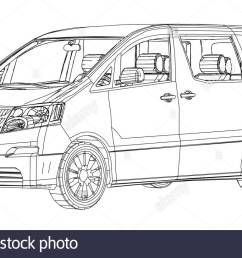 1300x821 minivan car abstract drawing wire frame eps10 format vector [ 1300 x 821 Pixel ]