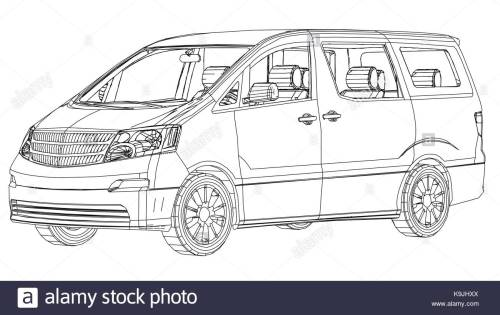 small resolution of 1300x821 minivan car abstract drawing wire frame eps10 format vector