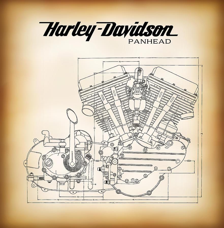 hight resolution of 882x900 panhead harley davidson motor company engine digital art by daniel