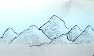 mountain drawing landscape simple easy sketch scene beginners draw drawings very sketches scenery range mountains painting amazing tutorial getdrawings landscapes