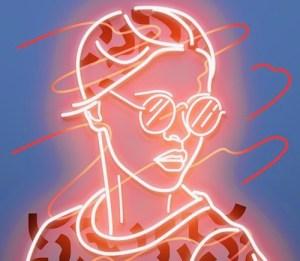 neon drawing drawings gadget getdrawings paintingvalley
