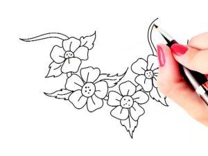 easy flowers nice drawing simple flower drawings draw getdrawings