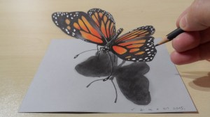 butterfly pencil drawing 3d draw magical sketch paper drawings painting colored pencils graphite