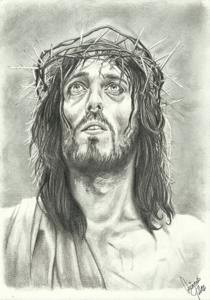 jesus face pencil christ drawing sketch drawings sketches getdrawings deviantart portraits paintingvalley