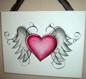 pencil heart hearts drawing wings drawings human angel tattoo sketch sketches broken dibujar para dibujos easy cool tatoo mum con