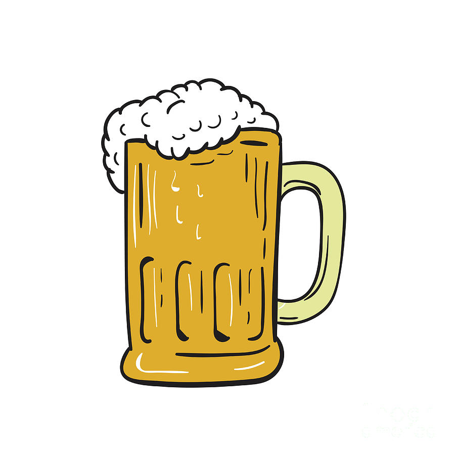medium resolution of 900x900 beer mug drawing digital art by aloysius patrimonio
