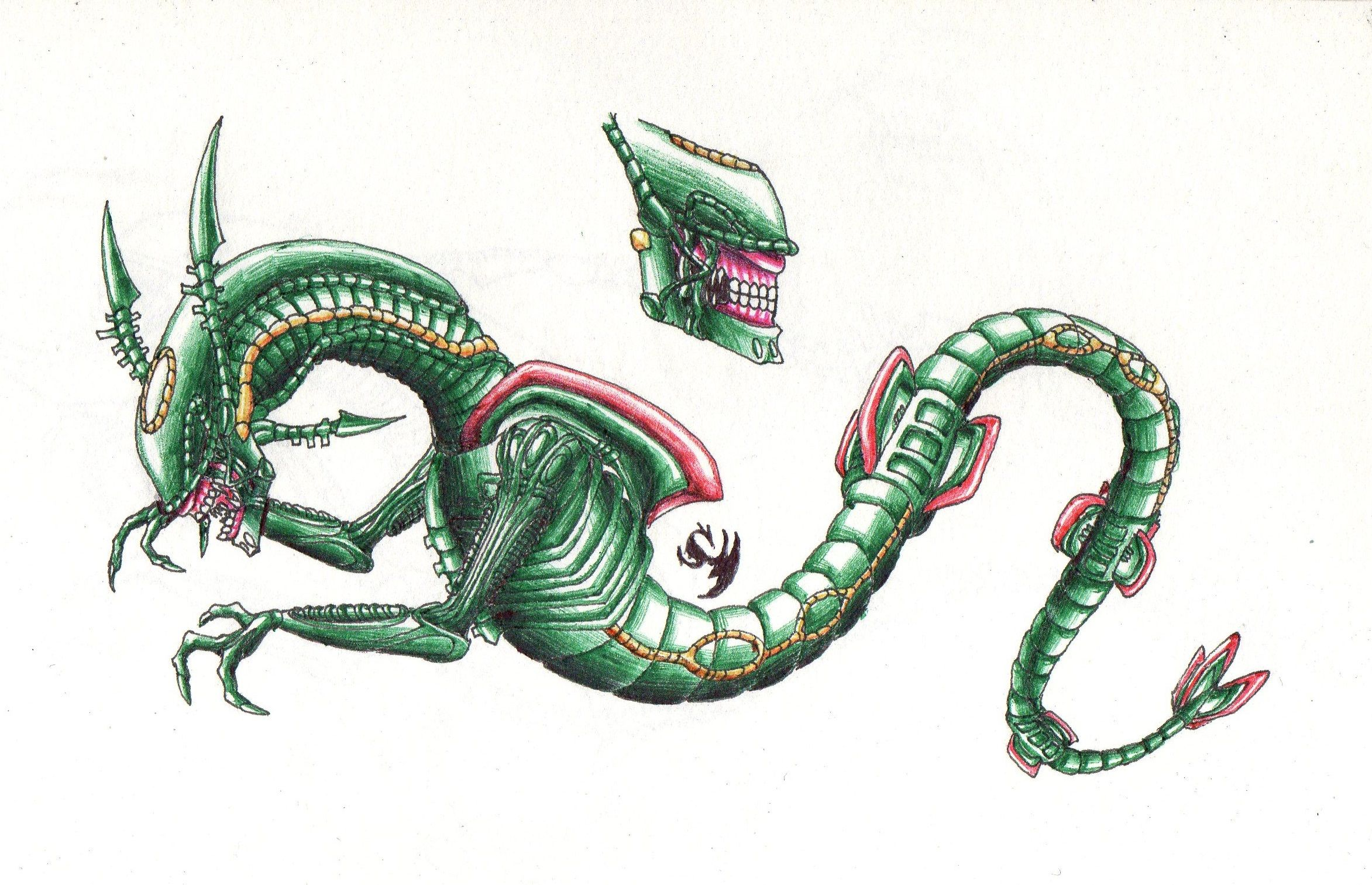 pokemon rayquaza drawing at
