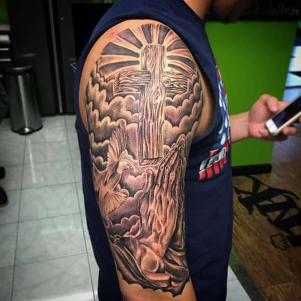 20 Prayer On Arm Hand Tattoos Memory Ideas And Designs