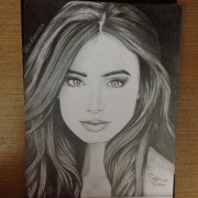 pretty girl face drawing