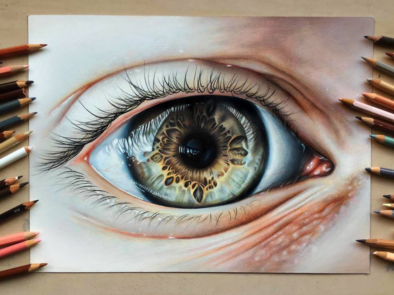 Drawing Realistic Eyes Easy Eye Sketch Easy At Paintingvalley