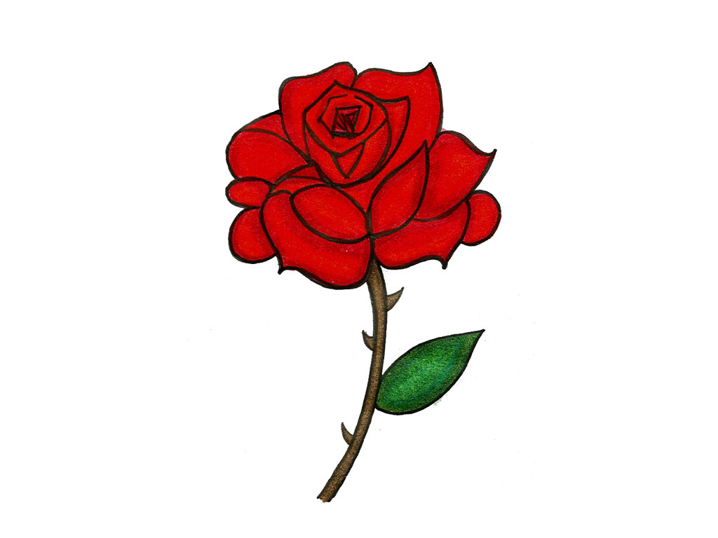 Image result for rose cartoon