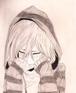 sad anime drawings drawing depressed easy sketch pencil sketches boy getdrawings manga basic cartoon crying رسومات drawn couple step