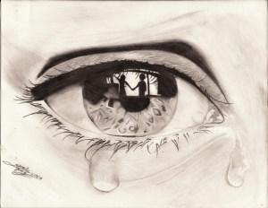 sad drawing sketch eyes sketches boy getdrawings