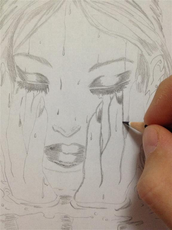 sad girl face drawing at getdrawings com free for personal use