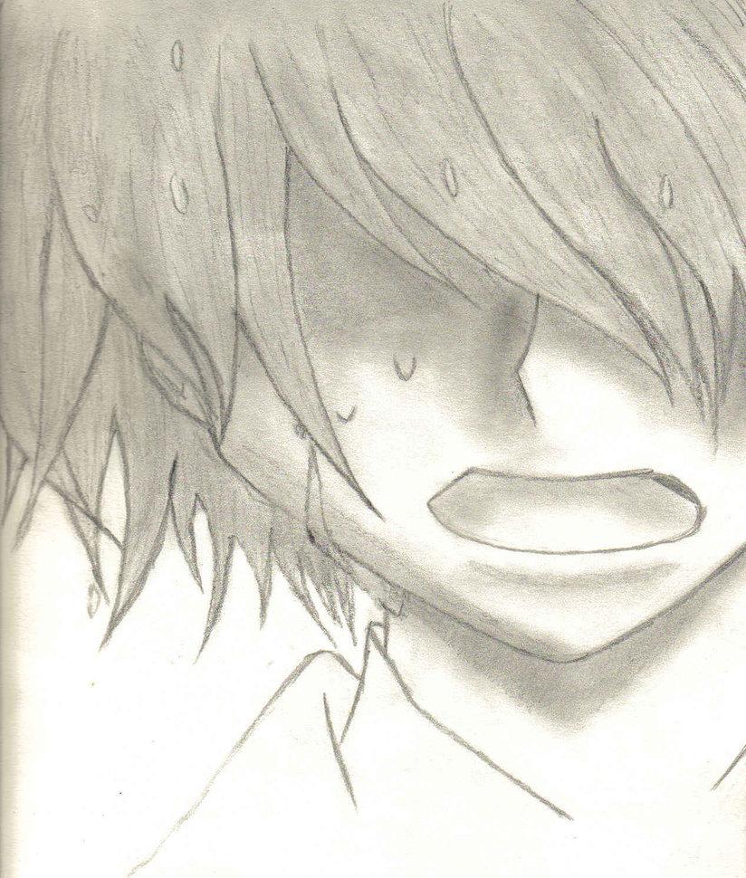 sad guy drawing at
