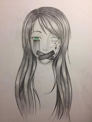 sad pencil drawing drawings depressed depressing getdrawings