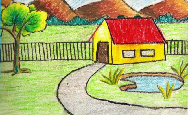 Scenery Drawing For Kids At Getdrawings Free For
