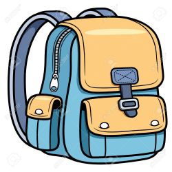 bag backpack drawing cartoon bags clipart vector cartoons illustration drawings clip getdrawings shutterstock pack pic royalty purses line clipartmag webstockreview