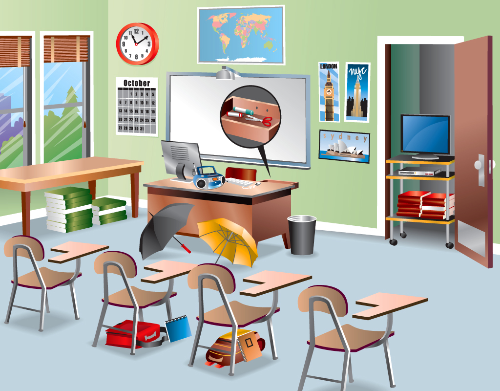 School Classroom Drawing At Getdrawings