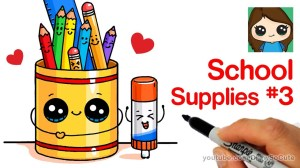 draw supplies easy drawing drawings doodle cake